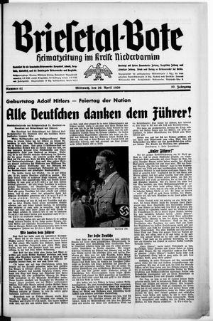 Briesetal-Bote vom 20.04.1938