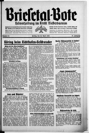 Briesetal-Bote vom 22.04.1938