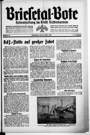 Briesetal-Bote vom 23.04.1938