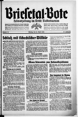 Briesetal-Bote on Apr 25, 1938