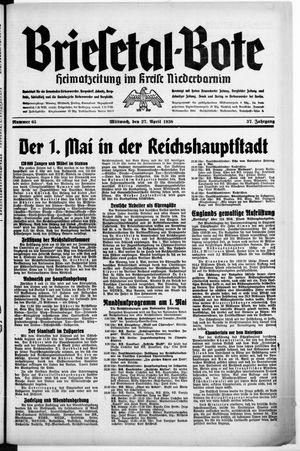 Briesetal-Bote vom 27.04.1938