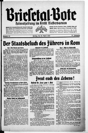 Briesetal-Bote vom 29.04.1938