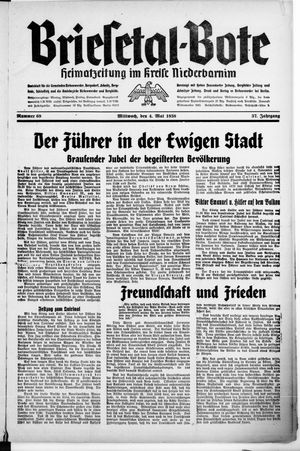 Briesetal-Bote vom 04.05.1938
