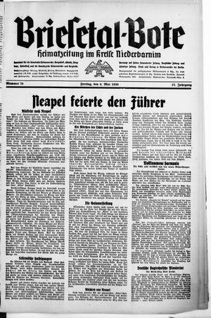 Briesetal-Bote on May 6, 1938