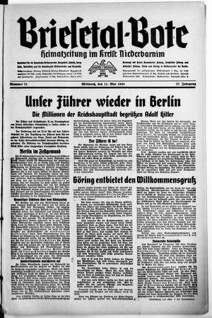 Briesetal-Bote vom 11.05.1938