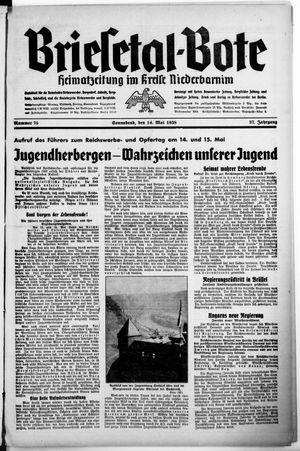 Briesetal-Bote vom 14.05.1938