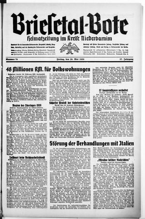 Briesetal-Bote vom 20.05.1938