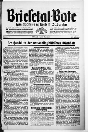 Briesetal-Bote vom 25.05.1938