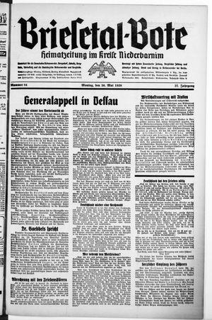 Briesetal-Bote vom 30.05.1938