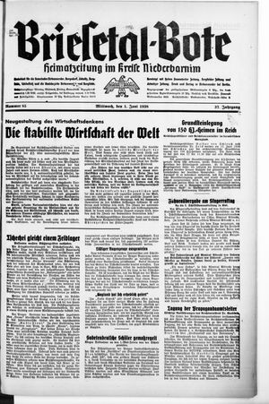 Briesetal-Bote vom 01.06.1938