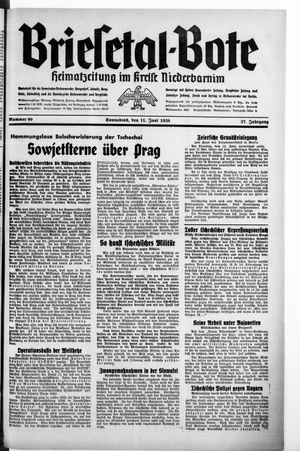 Briesetal-Bote vom 11.06.1938