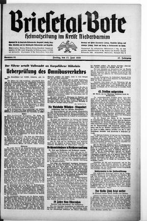 Briesetal-Bote vom 17.06.1938