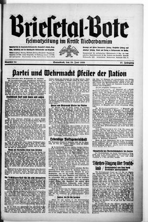 Briesetal-Bote vom 18.06.1938