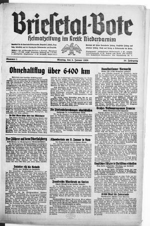 Briesetal-Bote vom 02.01.1939