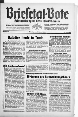 Briesetal-Bote vom 03.01.1939