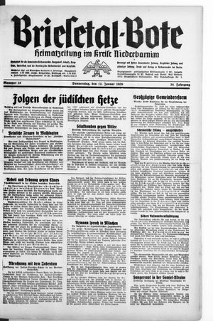 Briesetal-Bote on Jan 12, 1939