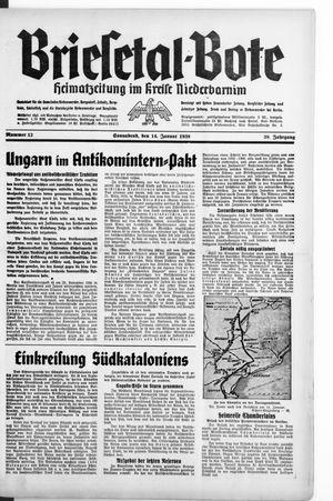 Briesetal-Bote vom 14.01.1939