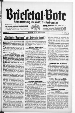 Briesetal-Bote vom 18.01.1939