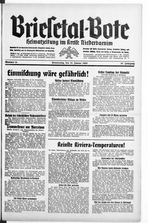 Briesetal-Bote vom 19.01.1939