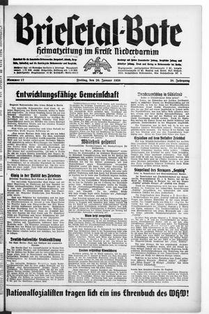 Briesetal-Bote vom 20.01.1939