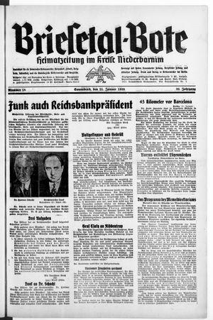 Briesetal-Bote vom 21.01.1939