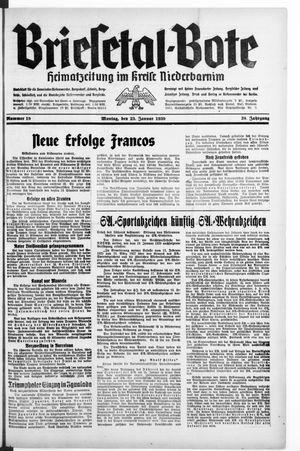 Briesetal-Bote vom 23.01.1939