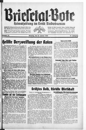 Briesetal-Bote vom 24.01.1939