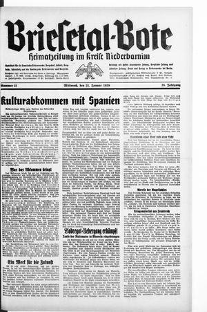 Briesetal-Bote vom 25.01.1939