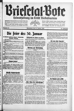 Briesetal-Bote vom 28.01.1939