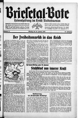 Briesetal-Bote vom 30.01.1939