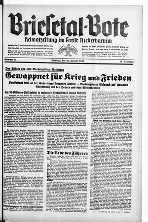 Briesetal-Bote vom 31.01.1939