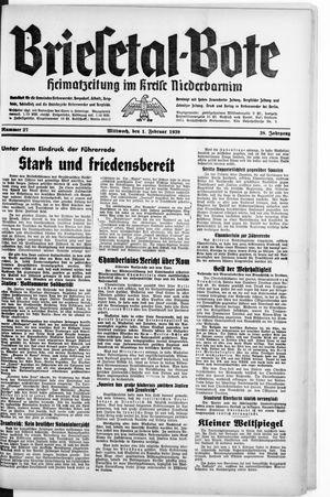 Briesetal-Bote vom 01.02.1939