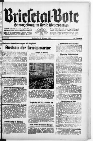 Briesetal-Bote on Feb 3, 1939