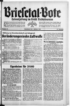 Briesetal-Bote vom 04.02.1939