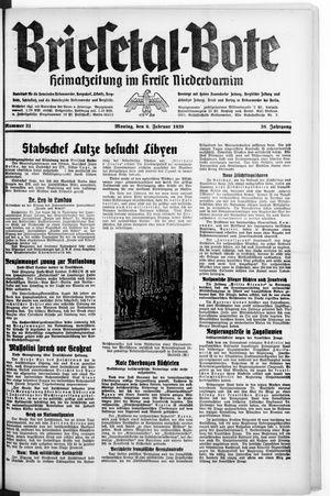 Briesetal-Bote vom 06.02.1939