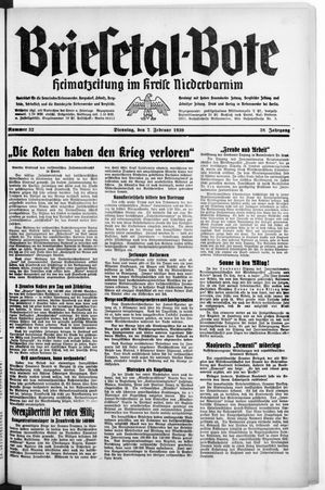 Briesetal-Bote vom 07.02.1939
