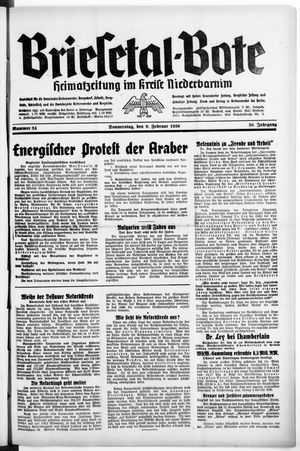 Briesetal-Bote vom 09.02.1939