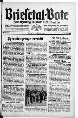 Briesetal-Bote vom 10.02.1939