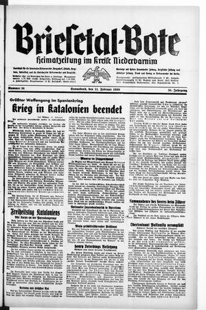 Briesetal-Bote vom 11.02.1939