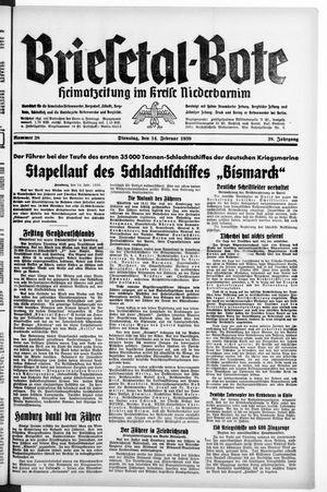 Briesetal-Bote vom 14.02.1939