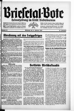Briesetal-Bote vom 15.02.1939