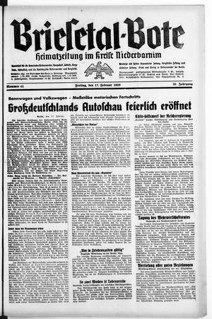 Briesetal-Bote vom 17.02.1939