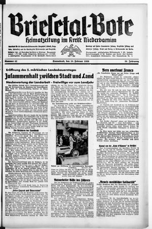 Briesetal-Bote vom 18.02.1939