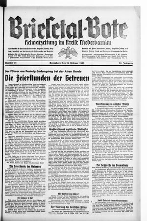 Briesetal-Bote vom 25.02.1939