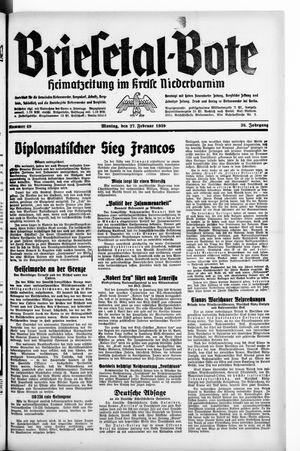 Briesetal-Bote vom 27.02.1939