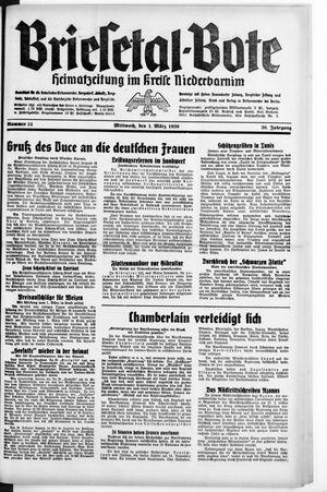 Briesetal-Bote vom 01.03.1939