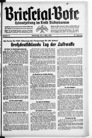 Briesetal-Bote vom 02.03.1939
