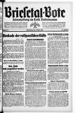 Briesetal-Bote vom 09.03.1939