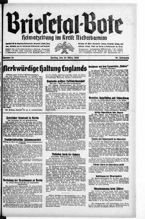 Briesetal-Bote vom 10.03.1939