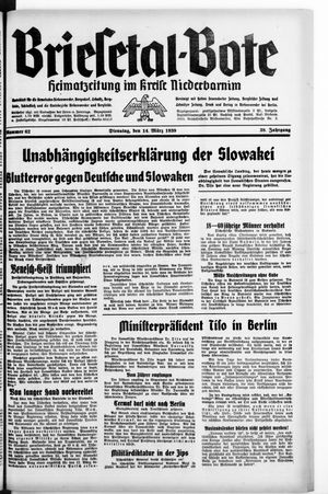 Briesetal-Bote vom 14.03.1939